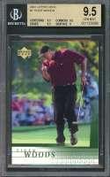 Tiger Woods Rookie Card 2001 Upper Deck #1 Golf BGS 9.5 (9.5 9.5 9.5 9)