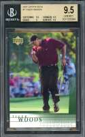 Tiger Woods Rookie Card 2001 Upper Deck #1 Golf BGS 9.5 (9.5 9.5 9 9.5)