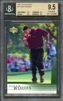 Tiger Woods Rookie Card 2001 Upper Deck #1 Golf BGS 9.5 (9.5 9.5 9.5 10)