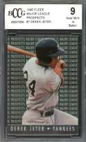 Derek Jeter Prospect Card 1995 Fleer Major League Prospects #7 BGS BCCG 9