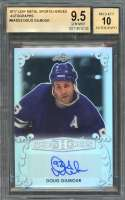 Doug Gilmour Auto Card 2017 Leaf Metal Sports Heroes Autographs #Badg2 BGS 9.5