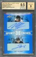 Hischier/Veleno 2017 Leaf Metal Sports Heroes Dual Autographs Blue #Da11 BGS 9.5