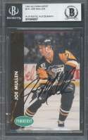 Joe Mullen 1991-92 Parkhurst #141 Autograph Penguins BGS BAS AUTHENTIC