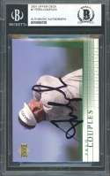 Fred Couples Autograph Golf Card 2001 Upper Deck #7 BGS BAS AUTHENTIC