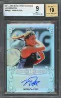 Monica Puig Auto Card 2017 Leaf Metal Sports Heroes Autographs #Bamp1 BGS 9
