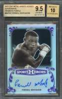 Pernell Whitaker  2017 Leaf Metal Sports Heroes Autographs Purple #Bap1 BGS 9.5