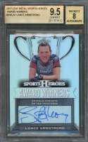 Lance Armstrong  2017 Leaf Metal Sports Heroes Autographs #Awla1 Auto BGS 9.5