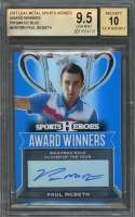 Paul Mcbeth  2017 Leaf Metal Sports Heroes Aw Prismatic Blue #Awpmb Auto BGS 9.5