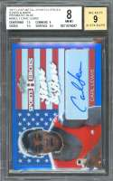 Carl Lewis Card 2017 Leaf Metal Sh Stars Bars Blue #1 BGS 8 (7.5 9 9.5 8.5)