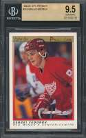 Sergei Fedorov Rookie Card 1990-91 Opc Premier #30 Detroit Red Wings BGS 9.5
