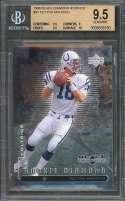 Peyton Manning Rookie Card 1998 Black Diamond Rookies #91 BGS 9.5 (9.5 9 9.5 10)