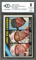 Willie Mays / Mccovey / Williams 1966 Topps #217 Nl Home Run Leaders BGS BCCG 8
