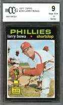 Larry Bowa Card 1971 Topps #233 Phillies (Topps All Star Rookie) BGS BCCG 9