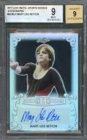 Mary Lou Retton Auto Card 2017 Leaf Metal Sports Heroes Autographs #Bamlr BGS 9