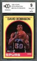 David Robinson Rookie Card 1990 Hoops 100 Superstars #88 Spurs BGS BCCG 9