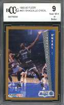 Shaquille O'Neal Rookie Card 1992-93 Fleer #401 Orlando Magic BGS BCCG 9