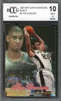 Tim Duncan Rookie Card 1997-98 Flair Showcase Row 2 #5 Spurs BGS BCCG 10