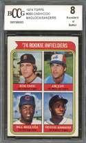 Cash/Cox/Reggie Sanders/ Bill Madlock Rookie Card 1974 Topps #600 BGS BCCG 8