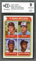 Cash/Cox/Reggie Sanders/ Bill Madlock Rookie Card 1974 Topps #600 BGS BCCG 9