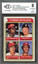 Armbrister/Bladt/Downing/Bake Mcbride Rookie Card 1974 Topps #601 BGS BCCG 8