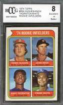 Hughes/Knox/Thornton/ Frank White Rookie Card 1974 Topps #604 BGS BCCG 8