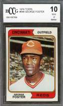 George Foster Card 1974 Topps #646 Cincinnati Reds BGS BCCG 10