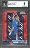 Luka Doncic Rookie Card 2018-19 Panini Prizm Prizms Red Ice #280 Mavericks BGS 9