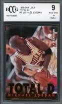 Michael Jordan Card 1995-96 Fleer Total D #3 Chicago Bulls BGS BCCG 9