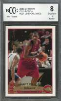 Lebron James Rookie Card 2003-04 Topps Collection #221 Cavaliers BGS BCCG 8