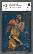 Anthony Davis Rookie Card 2012-13 Select White Hot Rookies #1 BGS BCCG 10