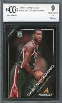 Giannis Antetokounmpo Rookie Card 2013-14 Pinnacle #5 Milwaukee Bucks BGS BCCG 9
