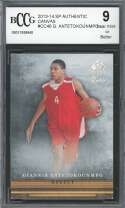 Giannis Antetokounmpo Rookie Card 2013-14 Sp Authentic Canvas #Cc46 BGS BCCG 9