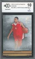 Giannis Antetokounmpo Rookie Card 2013-14 Sp Authentic Canvas #Cc46 BGS BCCG 10