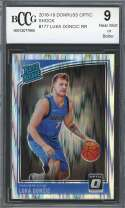 Luka Doncic Rookie Card 2018-19 Donruss Optic Shock #177 Mavericks BGS BCCG 9