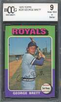 George Brett Rookie Card 1975 Topps #228 Kansas City Royals BGS BCCG 9