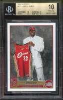 Lebron James Rookie Card 2003-04 Topps #221 Cavaliers (Pristine) BGS 10