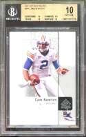 Cam Newton Rookie Card 2011 Sp Authentic #94 Carolina Panthers (Pristine) BGS 10