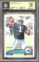 Cam Newton Rookie Card 2011 Topps #200A Carolina Panthers (Pristine) BGS 10