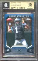 Cam Newton Rookie 2011 Topps Chrome Rookie Recognition #Rrcm  (Pristine) BGS 10