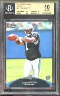 Cam Newton Rookie Card 2011 Topps Prime Retail #50 Panthers (Pristine) BGS 10