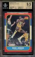 Magic Johnson Card 1986-87 Fleer #53 Los Angeles Lakers BGS 9 (10 9.5 9.5 9)