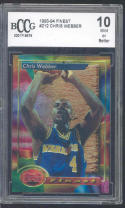 1993-94 finest #212 CHRIS WEBBER golden state warriors rookie card BGS BCCG 10