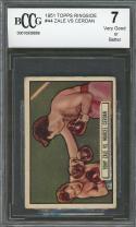 1951 topps ringside #44 TONY ZANE - MARCEL CERDAN boxing BGS BCCG 7
