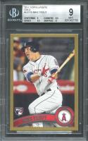 2011 topps update gold #us175 MIKE TROUT angels rookie card BGS 9 (9 8.5 9.5 9)