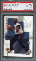 2001-02 u.d. ovation #90 MICHAEL JORDAN washington wizards PSA 10