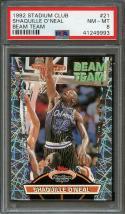1992-93 stadium club beam team #21 SHAQUILLE O'NEAL orlando magic rookie PSA 8.5