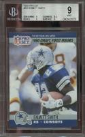 1990 pro set #685 EMMITT SMITH dallas cowboys rookie card BGS 9 (9 8.5 9 9)