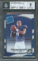 2017 donruss optic #195 DESHAUN WATSON texans rookie BGS 9 (9.5 9.5 9.5 8.5)