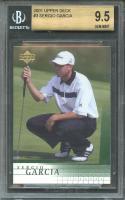 2001 upper deck #3 SERGIO GARCIA golf rookie card BGS 9.5 (9.5 9.5 9 9.5)