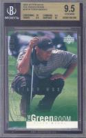 2002 upper deck the green room #gr10 TIGER WOODS golf BGS 10 9.5 10 9.5